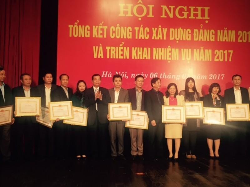 Tổng kết công tác xây dựng Đảng bộ Cơ quan LĐLĐ TP Hà Nội năm 2016