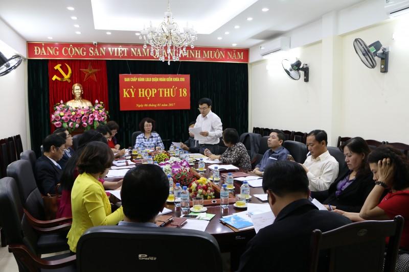 Hội nghị BCH LĐLĐ quận Hoàn Kiếm kỳ họp thứ 18 khóa XVII