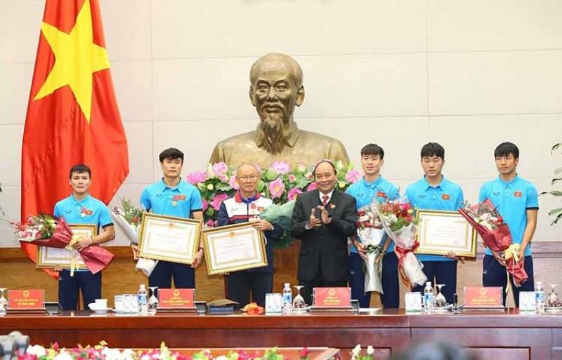 Thủ tướng: Nhân rộng bản lĩnh, ý chí U23 Việt Nam