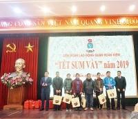 """LĐLĐ quận Hoàn Kiếm tổ chức """"Tết sum vầy năm 2019"""" trao quà cho CNVCLĐ"""