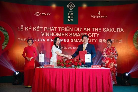 Vinhomes hợp tác tập đoàn Samty phát triển dự án The Sakura