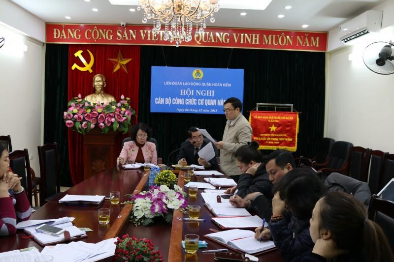 LĐLĐ quận Hoàn Kiếm: Hội nghị cán bộ, công chức, nhân viên cơ quan năm 2018