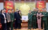 Chủ tịch HĐND TP Nguyễn Thị Bích Ngọc thăm, chúc Tết Tổng cục II - Bộ Quốc phòng