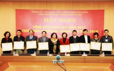 Đảng ủy-Ban chấp hành Công đoàn cơ quan Văn phòng HĐND TP Hà Nội triển khai nhiệm vụ năm 2018