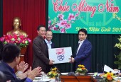 Chủ tịch Nguyễn Đức Chung chúc tết Công ty TNHH MTV Môi trường đô thị Hà Nội