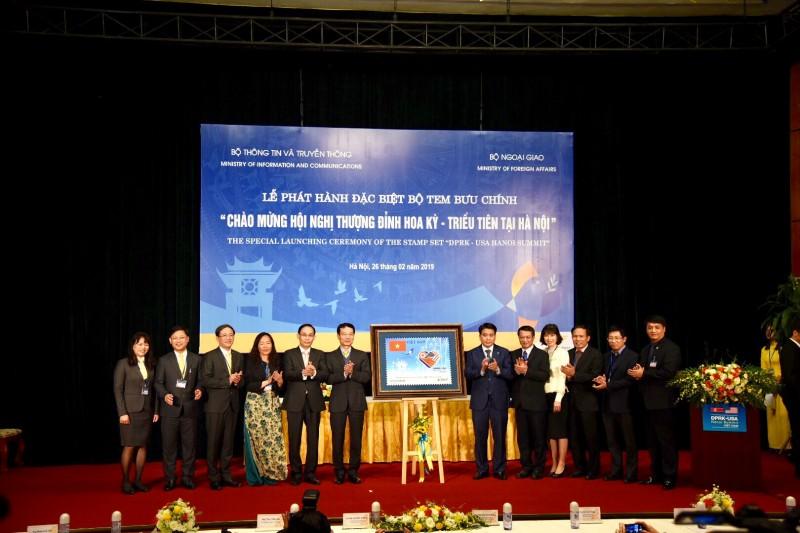 """Công bố phát hành đặc biệt bộ tem """"Chào mừng Hội nghị Thượng đỉnh Hoa Kỳ - Triều Tiên tại Hà Nội"""""""
