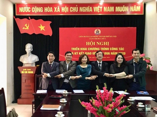 Cụm thi đua số 1 LĐLĐ thành phố Hà Nội ký giao ước thi đua năm 2020