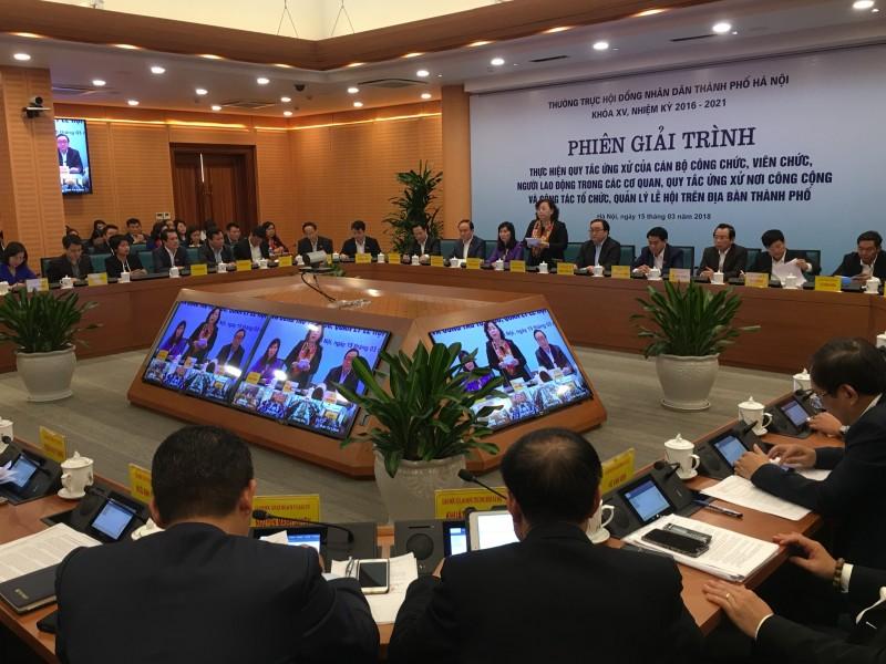 HĐND Thành phố tổ chức phiên giải trình về quy tắc ứng xử trong công sở và  nơi công cộng
