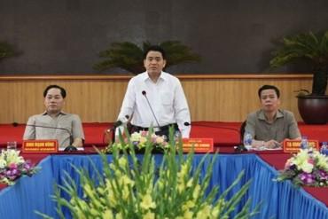 Chủ tịch UBND TP Nguyễn Đức Chung làm việc với huyện Chương Mỹ