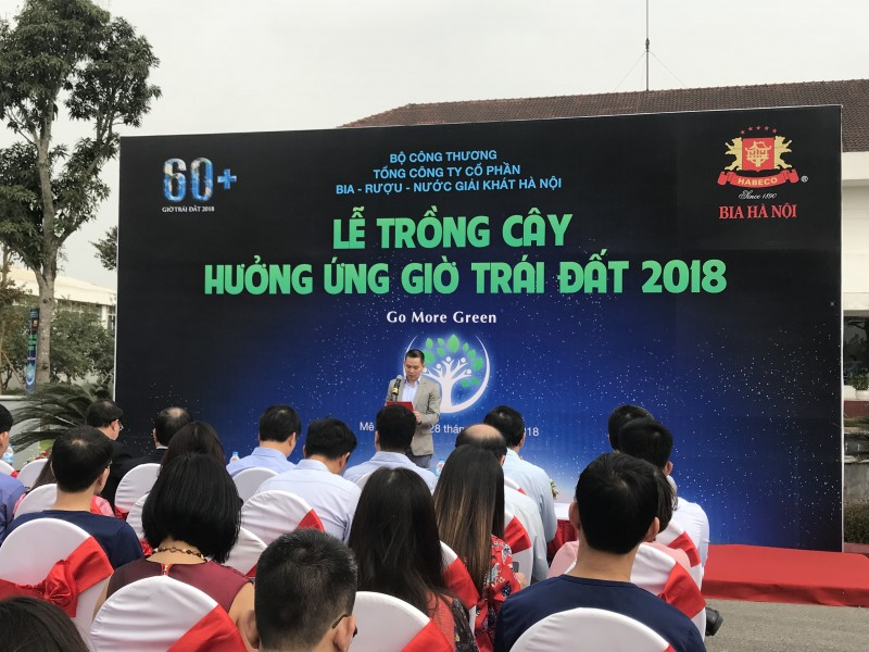 habeco to chuc le trong cay huong ung gio trai dat 2018