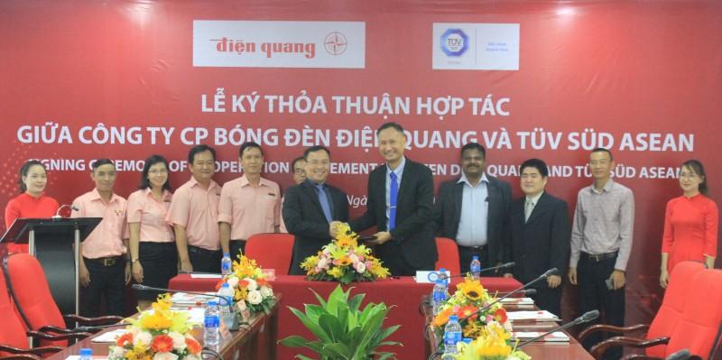 Điện Quang hợp tác với TÜV SÜD ASEAN nâng cao năng lực thử nghiệm chất lượng sản phẩm