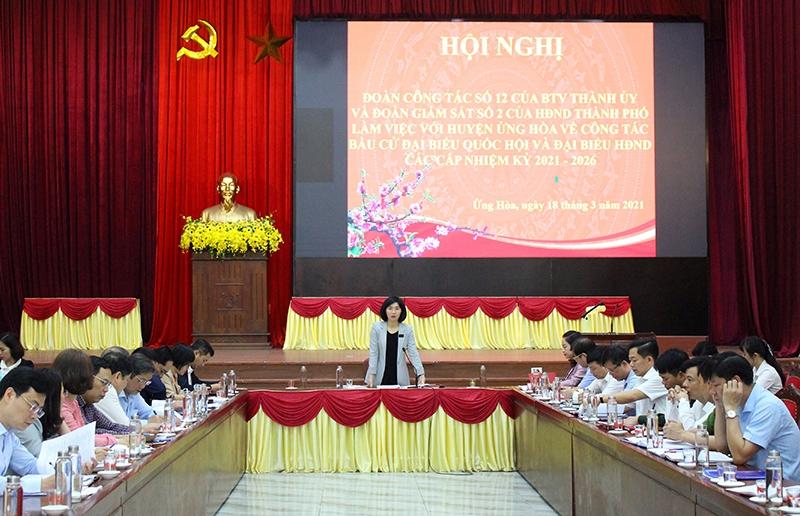 Huyện Ứng Hoà chuẩn bị kỹ lưỡng và đảm bảo tiến độ công tác bầu cử