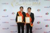 Agribank nhận cú đúp giải thưởng Sao Khuê 2016