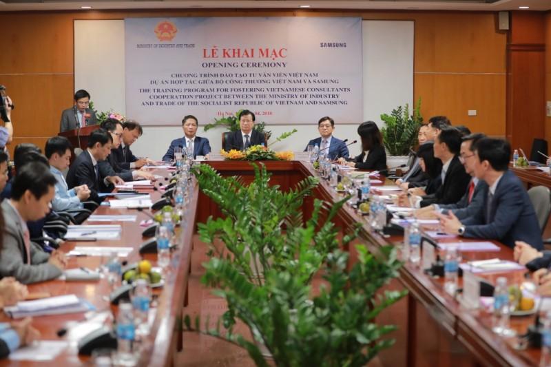 Bộ Công thương và Samsung Việt Nam hợp tác đào tạo 200 chuyên gia tư vấn trong lĩnh vực công nghiệp hỗ trợ