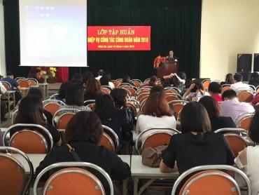 LĐLĐ quận Đống Đa tập huấn nghiệp vụ công tác công đoàn