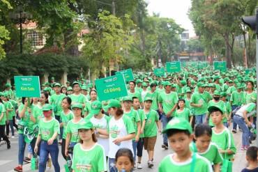 Hơn 20.000 học sinh, phụ huynh tham dự Ngày hội đi bộ vì thế hệ Việt Nam năng động lần thứ 5