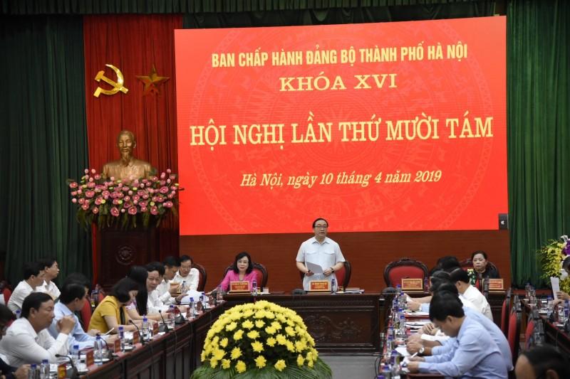Khai mạc Hội nghị lần thứ 18 Ban Chấp hành Đảng bộ TP Hà Nội