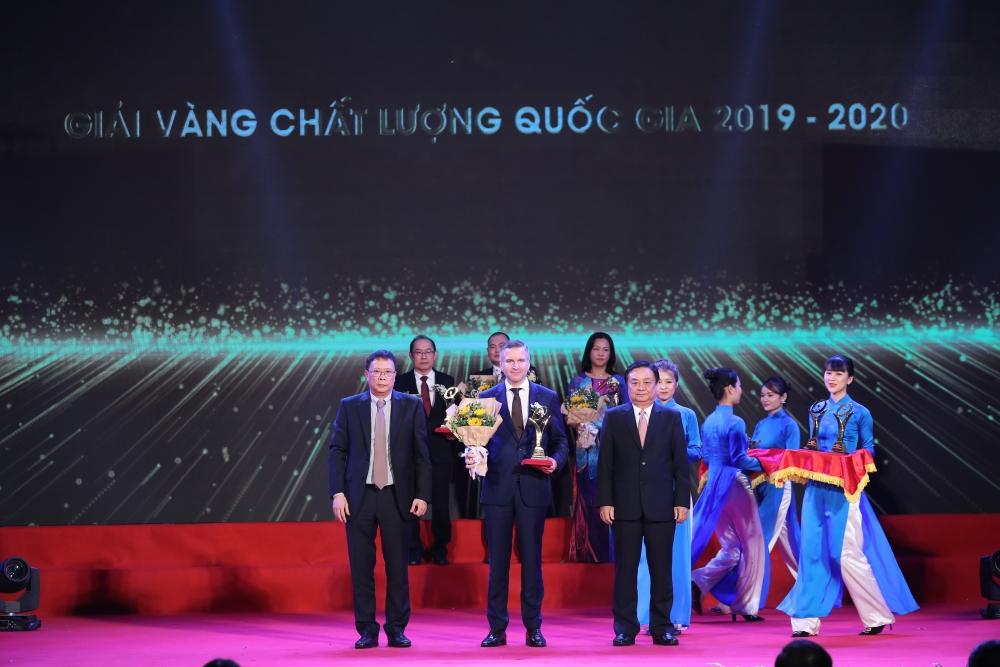 Nestlé Việt Nam nhận Giải vàng Chất lượng Quốc gia