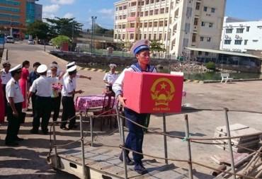 Bà Rịa - Vũng Tàu tổ chức bầu cử sớm cho các lực lượng trên biển