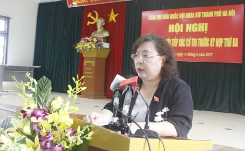 Chủ tịch HĐND TP Hà Nội Nguyễn Thị Bích Ngọc tiếp xúc cử tri quận Thanh Xuân