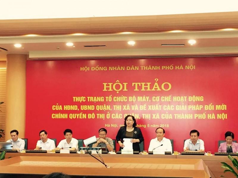 Quyết tâm đổi mới chính quyền đô thị ở các quận, thị xã của TP Hà Nội