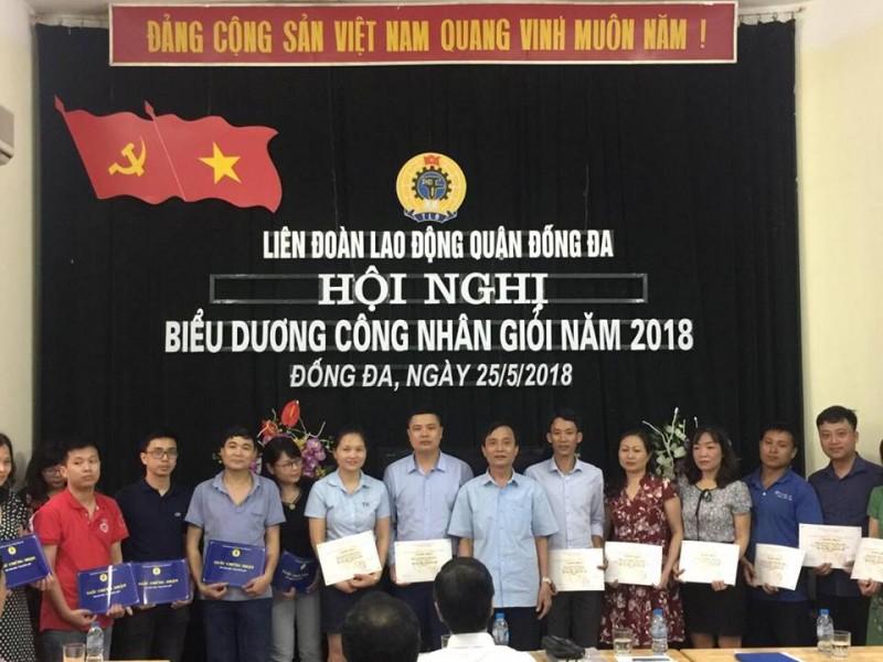 LĐLĐ quận Đống Đa khen thưởng 41 lao động giỏi tiêu biểu