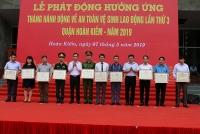 Quận Hoàn Kiếm phát động hưởng ứng tháng hành động ATVSLĐ năm 2019