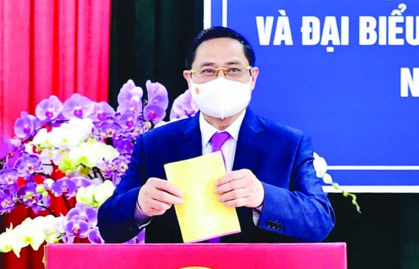 Thủ tướng Phạm Minh Chính bỏ phiếu bầu cử, thực hiện quyền và nghĩa vụ công dân