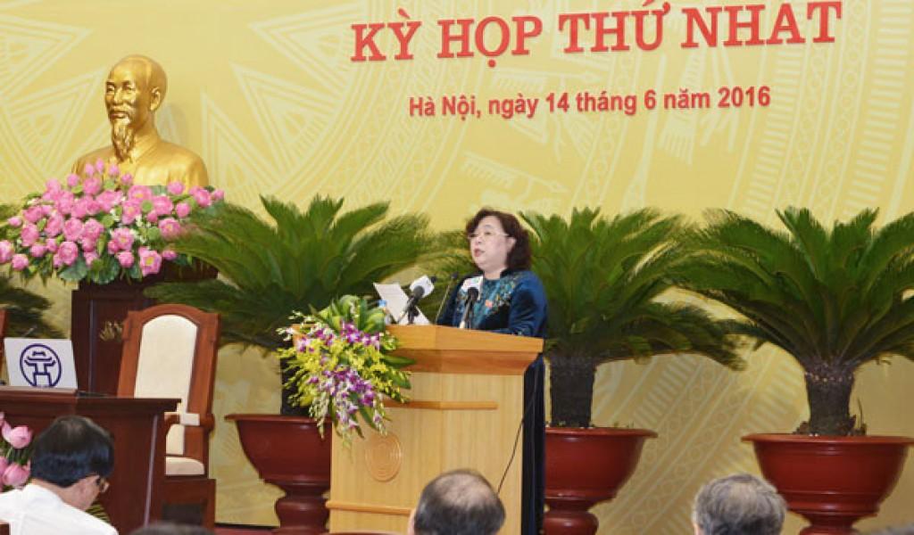Đồng chí Nguyễn Thị Bích Ngọc tái đắc cử Chủ tịch HĐND TP khóa XV
