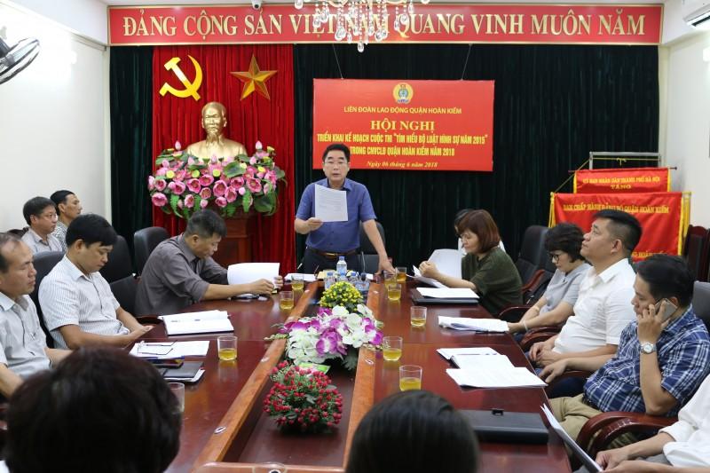 Tổ chức hội thi tìm hiểu Bộ luật hình sự 2015 trong CNVCLĐ