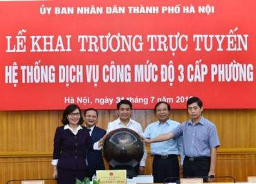Hà Nội cung cấp dịch vụ công mức độ 3 tại tất cả xã, phường