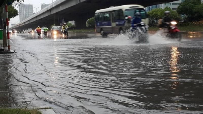 Khu vực Hà Nội từ đêm 24/7 có mưa, mưa rào
