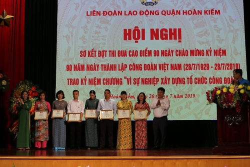Sơ kết đợt thi đua cao điểm 90 ngày chào mừng kỷ niệm 90 năm Ngày thành lập công đoàn Việt Nam