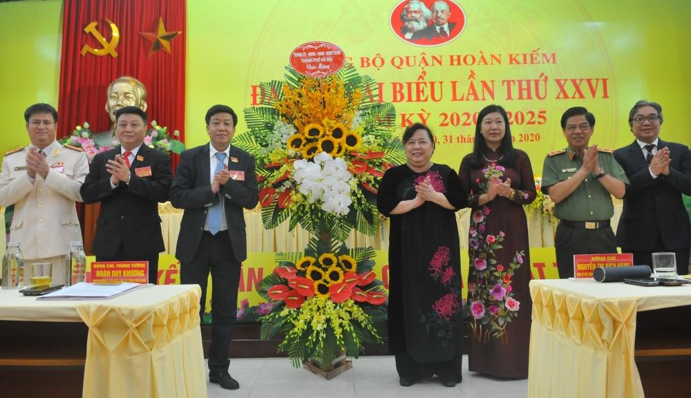 Đại hội Đảng bộ quận Hoàn Kiếm khoá XXVI: Xây dựng Quận ngày càng giàu đẹp, hiện đại, thanh lịch, văn minh
