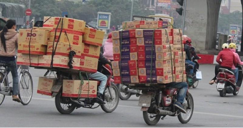 Hà Nội siết chặt quản lý phương tiện giao thông chở hàng hóa cồng kềnh