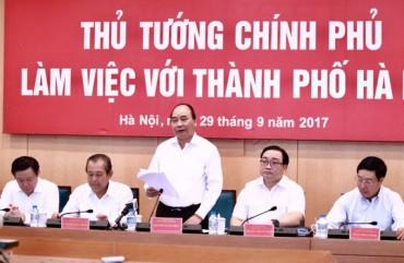 Thủ tướng Chính phủ Nguyễn Xuân Phúc: Thành phố Hà Nội có sự chuyển biến tốt và căn bản