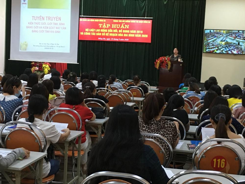 truyền thông công tác dân số kế hoạch hoá gia đình và Bộ luật Lao động năm 2019