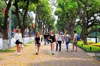 Không gian đi bộ trên địa bàn quận Hoàn Kiếm hoạt động trở lại