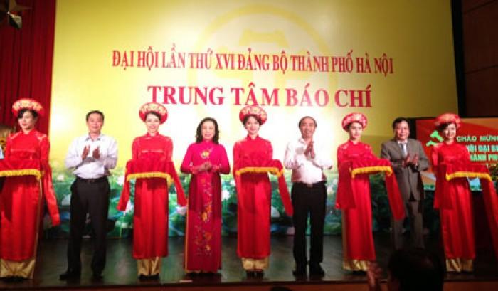 Khai trương Trung tâm Báo chí phục vụ ĐH Đảng bộ TP Hà Nội lần thứ XVI
