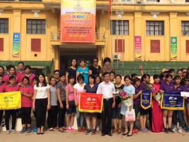 Gần 1000 vận động viên tham gia hội khỏe CNVCLĐ quận Đống Đa