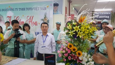 """Hội thi """"Cắm hoa nghệ thuật"""" trong công nhân lao động"""