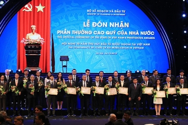 Nestlé Việt Nam vinh dự nhận Bằng khen về thành tích xuất sắc trong hoạt động đầu tư