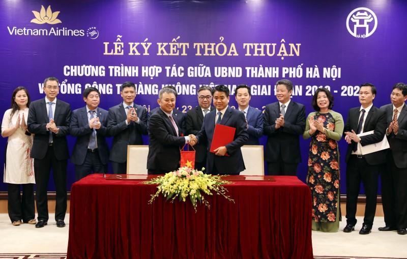 Thành phố Hà Nội ký kết thỏa thuận hợp tác với Tổng công ty Hàng không Việt Nam giai đoạn 2019 - 2024