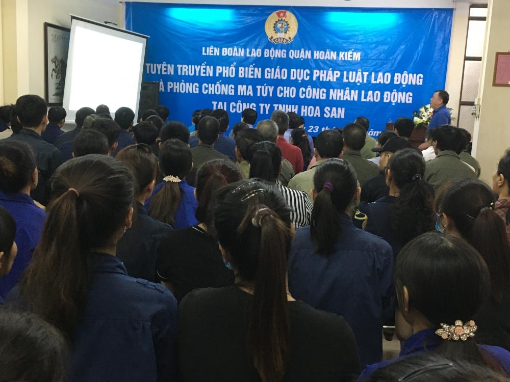 Liên đoàn Lao động quận Hoàn Kiếm truyền thông về pháp luật lao động và phòng chống ma tuý