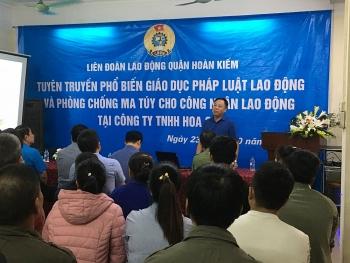 Liên đoàn Lao động quận Hoàn Kiếm tuyên truyền, phổ biến pháp luật lao động và phòng chống ma tuý