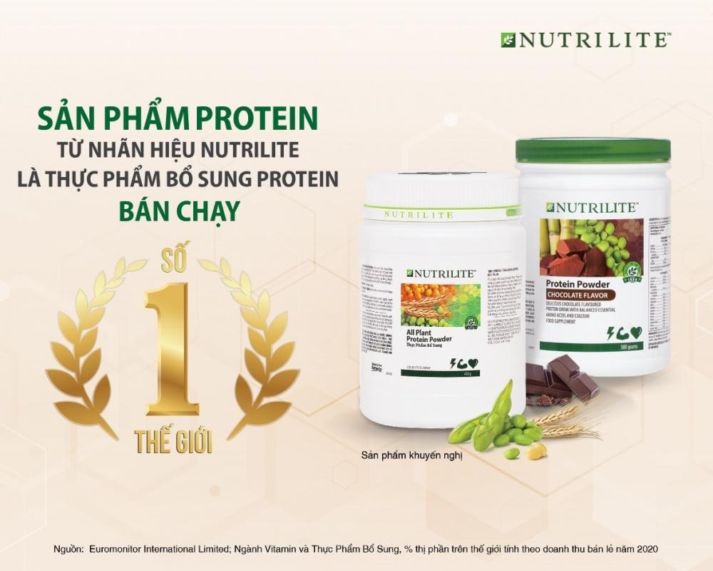 Dòng thực phẩm bổ sung Nutrilite đạt danh hiệu bán chạy số 1 thế giới