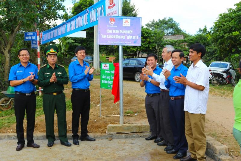 """Khánh thành công trình thanh niên """"Ánh sáng đường quê"""" tại tỉnh Quảng Trị"""