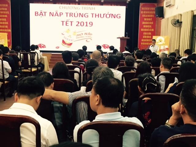 """Bia Hà Nội Tết 2019 khuyến mại khủng: """"Mở nắp trúng vàng"""""""