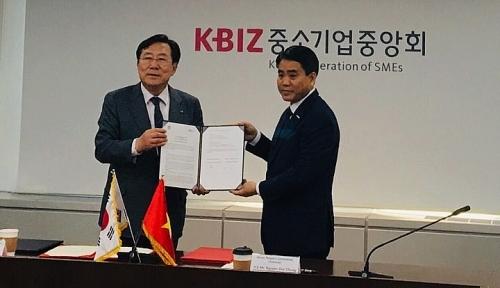 Tăng cường hợp tác đầu tư giữa Seoul và Hà Nội