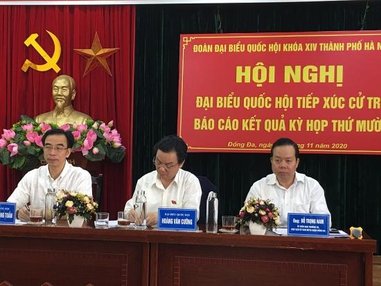 Đoàn đại biểu Quốc hội Thành phố Hà Nội tiếp xúc cử tri quận Đống Đa
